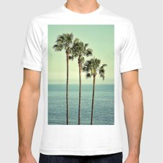 Three Day Weekend SMALL White Mens Fitted Tee