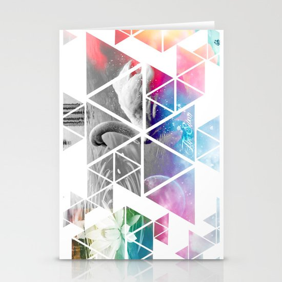 THE SWAN Stationery Card