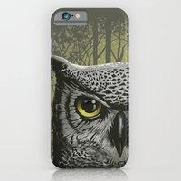 iPhone & iPod Case featuring Moon Owl by Rachel Caldwell