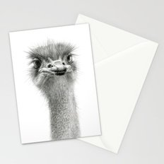Cute Ostrich Expression SK055 Stationery Cards