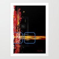 Horizontal and Vertical Art Print