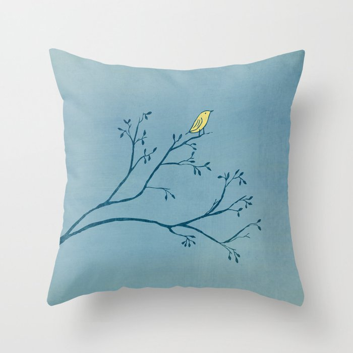 Yellow Bird Throw Pillows : Yellow Bird Throw Pillow by Matt Edward Society6