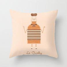 Le Ouisky Throw Pillow