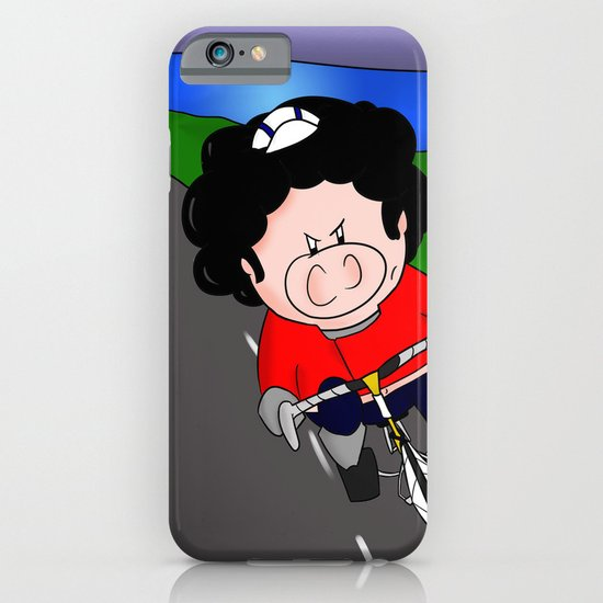 Cycling pig iPhone & iPod Case