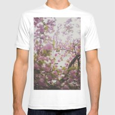 Spring Blossoms Mens Fitted Tee White SMALL