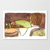 Draw Me Like One Of Your… Canvas Print