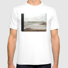 Landscape II White SMALL Mens Fitted Tee