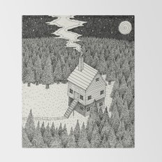 'The Middle Of Nowhere'  Throw Blanket