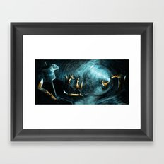 Foxes Den Framed Art Print