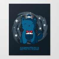 Geronimeow Canvas Print