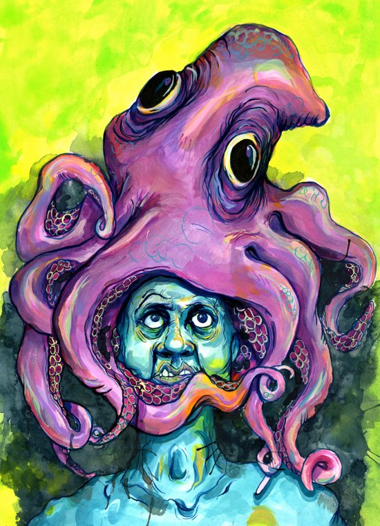 Derek the Octopus Art Print