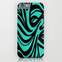 Blue & Black Waves iPhone 6 Slim Case