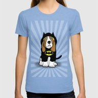 Dog  Womens Fitted Tee Tri-Blue X-LARGE