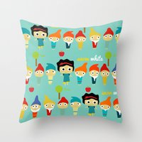Snow White And The 7 Dwa… Throw Pillow