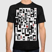 Pattern Party Mens Fitted Tee Tri-Black SMALL
