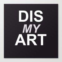 Dis My Clothing Line Canvas Print