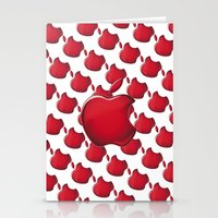 apple Stationery Cards featuring Apple by JT Digital Art