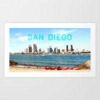 San Diego  Art Print