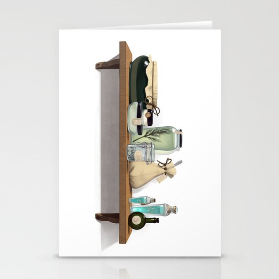 Potions and Poultices Stationery Card