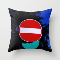 Road Flower Throw Pillow