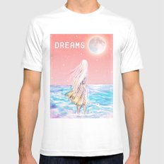 dreams White Mens Fitted Tee SMALL