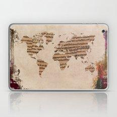 music world map Laptop & iPad Skin