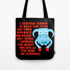 I started throwing bass Tote Bag