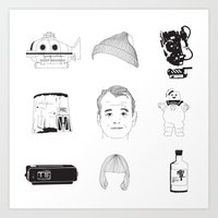 Bill Murray X 9 Art Print