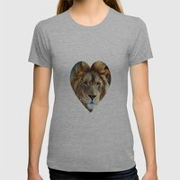 LION - Aslan Womens Fitted Tee Athletic Grey SMALL