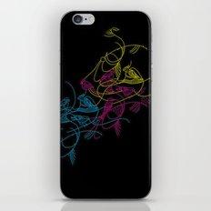 birds doodle in cmyk iPhone & iPod Skin