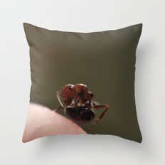 Walking on Finger Throw Pillow