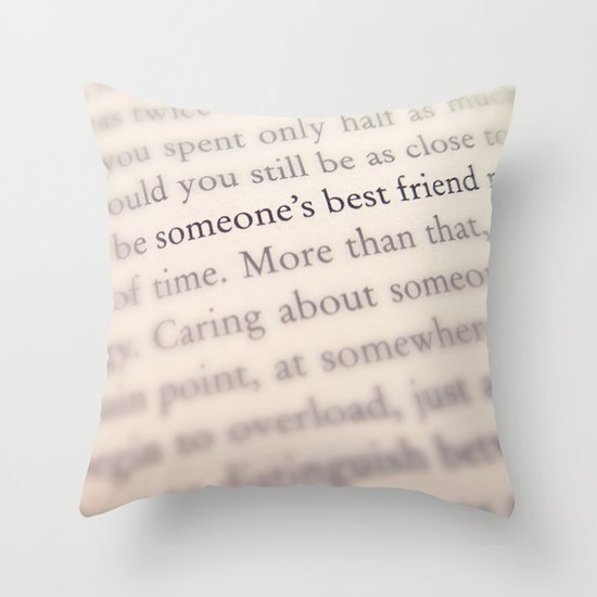 Someone's Best Friend Throw Pillow