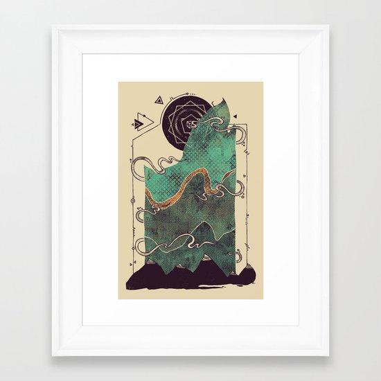 Northern Nightsky Framed Art Print