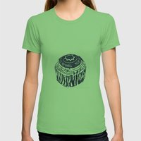 Tea cake (blue) Womens Fitted Tee Grass SMALL