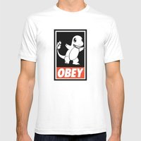 OBEY Charmander Mens Fitted Tee White SMALL