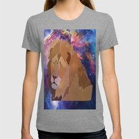 The Lion Is High Womens Fitted Tee Tri-Grey SMALL