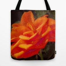 Rose and Leaves Tote Bag