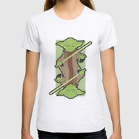 Yoda Womens Fitted Tee Ash Grey SMALL