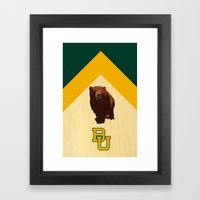 Baylor University - BU logo with bear Framed Art Print
