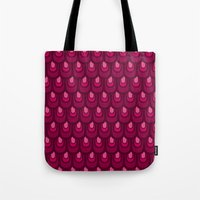 Pink Vintage Feather Pat… Tote Bag