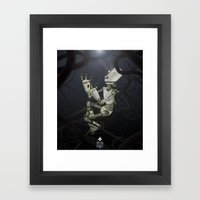Praying to the Lord of the Universe Framed Art Print