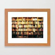 Book Bokeh Framed Art Print