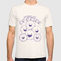 Cookies Mens Fitted Tee Natural SMALL