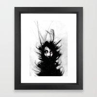 Coiling And Wrestling. D… Framed Art Print