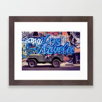 Big Los Angeles Framed Art Print