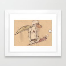 MT man Framed Art Print