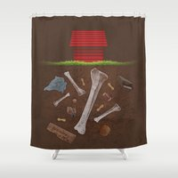 Snoopy's Stash  Shower Curtain