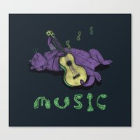 Ukulele Cat Canvas Print