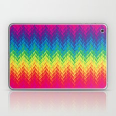 neon rainbow flame chevron Laptop & iPad Skin