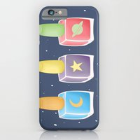 iPhone Cases featuring Space Glamour by SnakeBees
